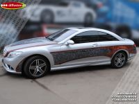 Аэрография автомобиля Mercedes Benz CL. Фото 4