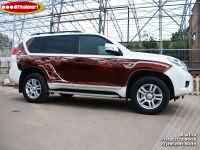 Аэрография автомобиля Toyota Land Cruiser Prado. Фото 1